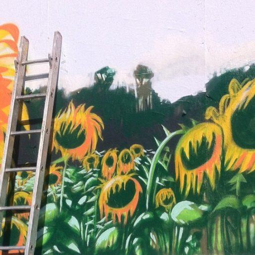 Ben Summers - Sunflowers painting Shoreditch, East London